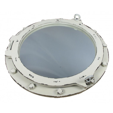 "24"" Nautical Decor Antiqued Porthole Mirror"