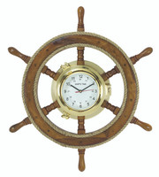 Ship Wheel Porthole Clock