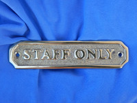 Brass Plaques for Office Door