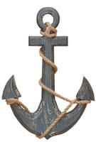 "18"" Nautical Fouled Wooden Ship Anchor"