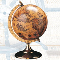 Medium Old World Globe with Stand