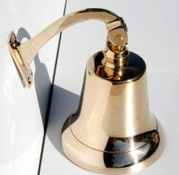 "8"" Big Brass Nautical Wall Bell"