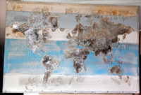Abstract World Map Painting