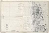 Old Antique Nautical Charts Spain