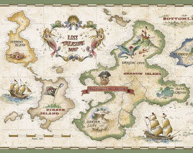Treasure Map Pirate Wallpaper Murals