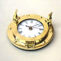 6 Inch Brass Ship's Porthole Clocks