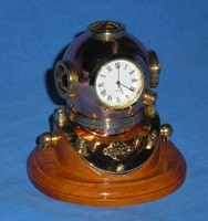 Mini Mark V U.S. Navy Diving Helmet Clock