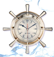 12 Inch Nautical Ships Wheel clock