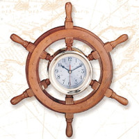 Nautical Ships Wheel CAPTAIN Clocks