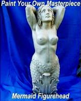 Unpainted Large Mermaid Ship's Figurehead