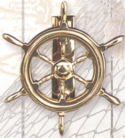 Brass Ships Wheel Door Knocker