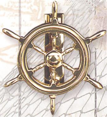 Brass Ships Wheel Door Knockers