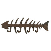 Rustic Metal Fish Bone Rack Hanger