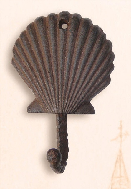 Cast Iron Clam Shell Utility Hook