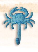 Crab Clothing Hook Blue Finish