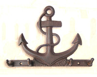 Iron Fouled Anchor Coat Hooks