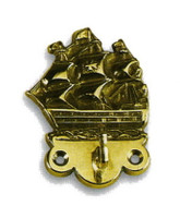 Large Brass Galleon Coat Hooks