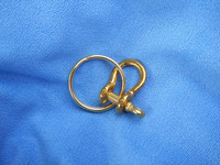 Small Brass Shackle & Keyring