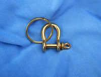 Solid Brass Bow Shackle & Splitring