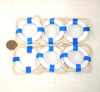 Blue Nautical Napkin Ring Buoys