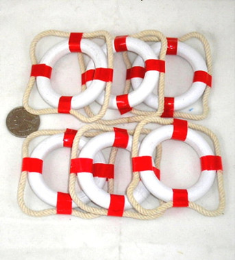 Mini Red And White Life Preserver Ring Buoys