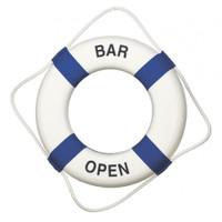 Blue White Bar Open Life Preservers
