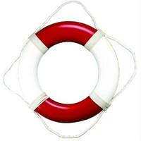 """20"""" Plain Vinyl Red White Life Preservers Buoys"""