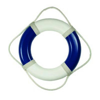 "20"" Plain Vinyl Nautical Life Preserver Buoy"