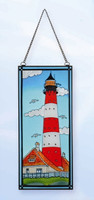 Stained Glass Lighthouse Seabirds