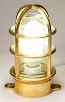 Brass Exterior Oceanic Cage Light