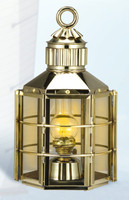 Brass Clipper Ship Anchor Light Lantern