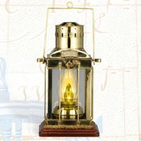 "Nautical 16"" Cargo Lamp Lantern w/ Base"