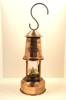 "9"" Tin Oil Lamp Copper Finish"