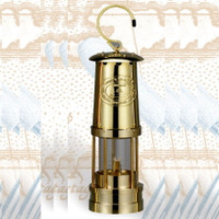 Deluxe Brass Miner's Oil Lamp