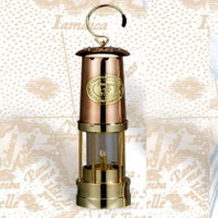 Deluxe Copper Miner's Oil Lamp