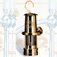 Deluxe Gimbaled Brass Oil Lamp