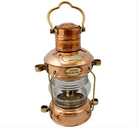 Polished Copper Oil Anchor Lamps