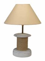 Maritime 8 x 20 Wooden Rope Spool Lamp