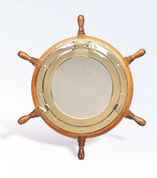 Extra Large Nautical Mirror Ship Wheel
