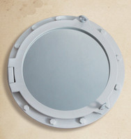 "24"" Nautical Decor Wooden Porthole Mirror"