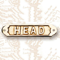 "6"" Brass HEAD Name Plate Plaque"