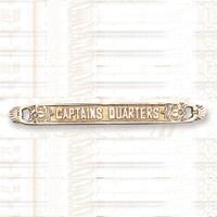 Brass CAPTAIN'S QUARTERS Plaque Sign