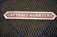 Wood Brass Captain's Quarters Plaque