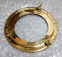 "15"" Brass Ships Working Porthole Clear"