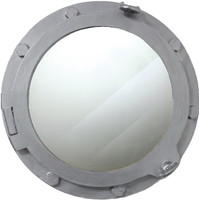 "17"" Nautical Decor Wood Ships Porthole Mirror"