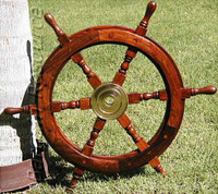 25 Inch Nautical Wood Ship's Wheel