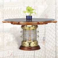 "Lantern Base End Table with 30"" Deluxe Wheel"