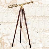 """38"""" Brass Decorators Floor Telescope"""