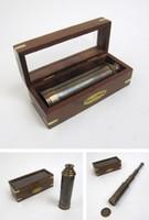 Antiqued Brass Spyglass Telescope in Box