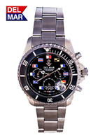 Men's Black Nautical Flag Dial Miyota Watch